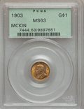 Commemorative Gold: , 1903 G$1 Louisiana Purchase/McKinley MS63 PCGS. PCGS Population(557/1915). NGC Census: (274/1387). Mintage: 17,500. Numism...