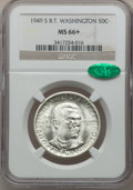 Commemorative Silver: , 1949-S 50C Booker T. Washington MS66+ NGC. CAC. NGC Census:(350/56). PCGS Population (401/27). Mintage: 6,004. Numismedia ...