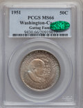 Commemorative Silver: , 1951 50C Washington-Carver MS66 PCGS. CAC. Ex: Guttag Family. PCGSPopulation (51/1). NGC Census: (28/3). Mintage: 110,018....