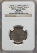 U.S. Presidents & Statesmen, (1860 Abraham Lincoln Campaign Medal MS62 NGC. DeWitt-AL-1860-60.Silver, 24mm....