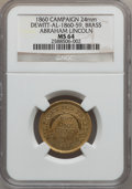 U.S. Presidents & Statesmen, 1860 Abraham Lincoln Campaign Medal MS64 NGC. DeWitt-AL-1860-59.Brass, 24mm....
