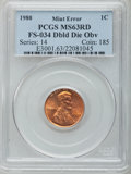Lincoln Cents, 1980 1C Doubled Die Obverse, FS-101, MS63 Red PCGS. (FS-034). PCGS Population: (7/22). NGC Census: (5/28)....