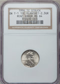 Errors, 1996 1C Lincoln Cent -- Struck on a Type 1 10C Planchet, 2.3 grams-- MS64 NGC....