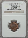 Civil War Merchants, 1863 A.E. Griffin, Dentist, Marion, OH, MS62 Brown NGC.Fuld-OH520A-1a....