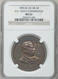 Assay Medals, 1894 U.S. Assay Medal, Silver MS63 NGC. JK-AC-38....