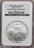 Modern Bullion Coins, 2006-W $1 20th Anniversary Silver Eagle MS70 NGC. NGC Census:(7156). PCGS Population (358). Numismedia Wsl. Price for pro...
