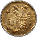California Fractional Gold: , 1855/4 25C Liberty Octagonal 25 Cents, BG-106, R.3, MS64 NGC. NGCCensus: (14/12). PCGS Population (36/14). ...