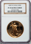 Modern Bullion Coins: , 2000-W G$50 One-Ounce Gold Eagle PR70 Ultra Cameo NGC. NGC Census: (524). PCGS Population (114). Numismedia Wsl. Price for...