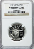 Modern Bullion Coins: , 1998-W P$50 Half-Ounce Platinum Eagle PR70 Ultra Cameo NGC. NGCCensus: (455). PCGS Population (419). Mintage: 13,919. Numi...