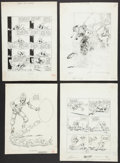 Miscellaneous Collectibles:General, Sports Illustrations Lot Of 8 Including Bill Gallo! ...