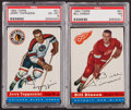 Hockey Cards:Lots, 1954/55 Topps Hockey High End PSA-Graded Pair (2). ...