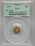 California Fractional Gold: , 1876 50C Indian Octagonal 50 Cents, BG-949, R.4, MS64 PCGS. PCGSPopulation (33/6). NGC Census: (3/1). ...