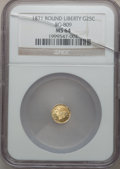 California Fractional Gold: , 1871 25C Liberty Round 25 Cents, BG-809, Low R.4, MS64 NGC. NGCCensus: (7/4). PCGS Population (28/26). ...