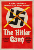 "Movie Posters:War, The Hitler Gang (Paramount, 1944). One Sheet (27"" X 41"") Style A.War.. ..."
