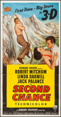 "Second Chance (RKO, 1953). Three Sheet (41"" X 79.5"") 3-D Style. Thriller"