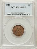 Lincoln Cents: , 1910 1C MS64 Brown PCGS. PCGS Population (80/38). NGC Census:(176/70). Mintage: 146,801,216. Numismedia Wsl. Price for pro...