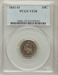 Seated Dimes: , 1841-O 10C VF30 PCGS. PCGS Population (10/71). NGC Census: (1/61).Mintage: 2,007,500. Numismedia Wsl. Price for problem fr...