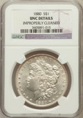 Morgan Dollars, 1880£1 Q -- Improperly Cleaned -- NGC Details. UNC. NGC Census:(38/11094). PCGS Population (55/10449). Mintage: 12,...