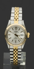 Timepieces:Wristwatch, Tudor Lady's Two Tone Princess Oysterdate Automatic. ...