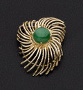Estate Jewelry:Brooches - Pins, Jade & Gold Brooch. ...