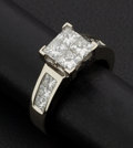Estate Jewelry:Rings, Exceptional Lady's Princess Cut Diamond Ring. ...