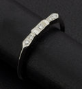 Estate Jewelry:Rings, White Gold & Diamond Antique Band. ...