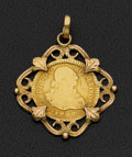 Estate Jewelry:Pendants and Lockets, Spanish Gold Coin Pendant. ...