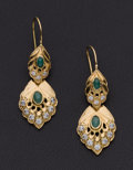 Estate Jewelry:Earrings, Antique Gold Dangle Earrings. ...