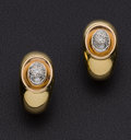 Estate Jewelry:Earrings, Diamond & 18K Gold Earrings. ...