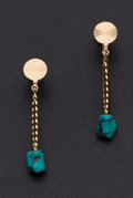 Estate Jewelry:Earrings, Gold & Turquoise Earrings. ...