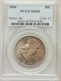 Franklin Half Dollars: , 1954 50C MS65 PCGS. PCGS Population (596/28). NGC Census:(1216/62). Mintage: 13,100,000. Numismedia Wsl. Price forproblem...
