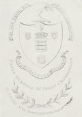 Fine Art - Work on Paper:Print, FOR THE TRIAL OF WARREN HASTINGS ESQ. PETER BURRELL DY. GREAT CHAMBERLAIN . 18th century. Engraving. 6-1/2 x 4-1/2 inches (1...