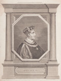 Fine Art - Work on Paper:Print, PAIR OF ENGLISH PRINTS: PRUDENTISS, PRIN, HENRICUS VII D.G. ANGLIAE GALLIAE ET HIBERNIAE REX AND HENRY V. 19th century. Engr... (Total: 2 Items)