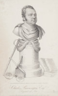 Fine Art - Work on Paper:Print, CHARLES RUNNINGTON ESQ. SERJEANT AT LAW. June 2, 1817. Engraving from a drawing by R. W. Clarkson. Proof. 8-1/2 x 5 inches (...