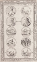 Fine Art - Work on Paper:Print, HISTORICAL MEDALS OF QUEEN ANNE'S REIGN . 19th century. Engraving. 12-1/2 x 7-1/2 inches (31.8 x 19.1 cm). The Elton M. Hy...