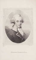 Fine Art - Work on Paper:Print, PAIR OF ENGLISH PRINTS: THOMAS, FIRST LORD COVENTRY. OB 1640 AND ROBERT JEPHSON ESQ.. 19th century. Engravings. 8-1/2 x 5-1/... (Total: 2 Items)
