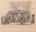 Fine Art - Work on Paper:Print, GEORGE JONES (British, 1786-1869). Interior of the Ancient Chapel of St. Mary Magdalen, Guildhall, 1817. Engraving . 14-...