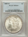 Morgan Dollars, 1885-O $1 MS64+ PCGS. PCGS Population (62741/19791). NGC Census:(79393/30883). Mintage: 9,185,000. Numismedia Wsl. Price f...