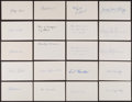 Baseball Collectibles:Others, Collection of 20 Signed Index Cards With Some Hall of Famers (2)Lloyd Waner....