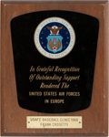 Baseball Collectibles:Others, 1966 Frank Crosetti Signed United States Air Forces in EuropePersonal Award. ...
