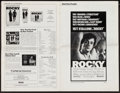 "Movie Posters:Academy Award Winners, Rocky & Other Lot (United Artists, 1977). Uncut Pressbook (Multiple Pages, 11"" X 17), One Sheet (27"" X 41""), and Promotional... (Total: 3 Items)"