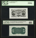 Fractional Currency:Third Issue, Fr. 1272SP 15¢ Third Issue Wide Margin Pair PMG Superb Gem Unc 68 (EPQ) and PCGS Superb Gem New 67PPQ.. ... (Total: 2 notes)