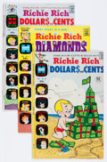 Bronze Age (1970-1979):Humor, Richie Rich Diamonds/Dollars and Cents Box Lot (Harvey, 1966-81)Condition: Average VF....