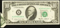 Error Notes:Foldovers, Fr. 2027-A $10 1985 Federal Reserve Note. Extremely Fine-About Uncirculated.. ...