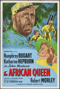 "Movie Posters:Adventure, The African Queen (Romulus, R-1950s). British One Sheet (27"" X40.5""). Adventure.. ..."