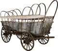 Western Expansion:Cowboy, A CONESTOGA WAGON THAT WENT WEST ON THE OREGON TRAIL IN 1850 - Pioneers of the American 'West', which at the time of the pr... (Total: 1 Item)