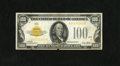 Small Size:Gold Certificates, Fr. 2405 $100 1928 Gold Certificate. Very Fine.. This is a tough note in any condition. The face is better looking than the ...