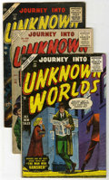 Golden Age (1938-1955):Horror, Journey Into Unknown Worlds Group (Atlas, 1955-57) Condition:Average GD/VG.... (Total: 8 Comic Books)