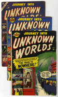 Golden Age (1938-1955):Horror, Journey Into Unknown Worlds Group (Atlas, 1951-53) Condition:Average GD+.... (Total: 3 Comic Books)