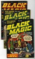 Golden Age (1938-1955):Horror, Black Magic Group (Prize, 1951-52) Condition: Average GD/VG....(Total: 4 Comic Books)
